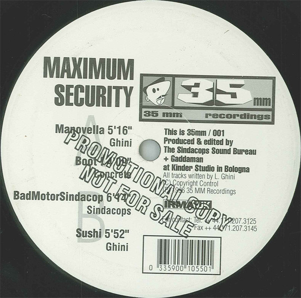 "Maximum Security ‎(12"")(Promo)"