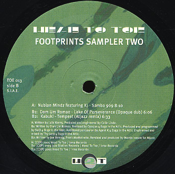 Footprints Sampler Two (vinyl)
